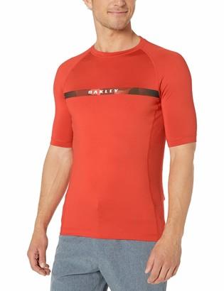 Oakley Mens Camou Stripe Logo Rashguard