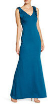 Nicole Miller Bow Shoulder Gown