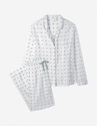 The White Company Patterned long-sleeved cotton pyjama set