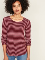 Old Navy Striped Plush-Knit Tee for Women