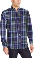 Izod Men's Long Sleeve Twill Easy Care Plaid Shirt