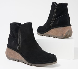 Fly London Suede Ankle Boot with Zipper - Nilo