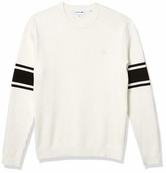 Lacoste Men's Long Sleeve Semi Fancy Regular Fit Sweater