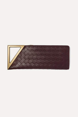 Bottega Veneta Rim Intrecciato Leather Clutch - Burgundy