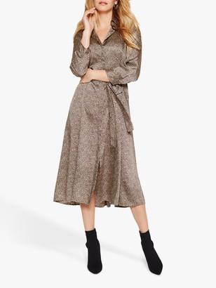 Damsel in a Dress Lexia Animal Print Shirt Dress, Neutral
