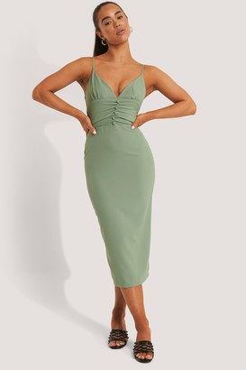Trendyol Buttoned Detailed Midi Dress
