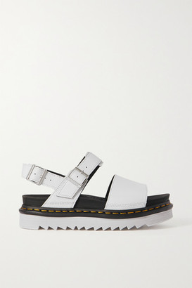 Dr. Martens Voss Leather Platform Slingback Sandals - Light gray