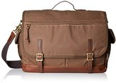 Fossil Defender Waxed Canvas Top Handle Messenger Bag