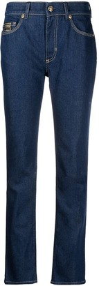 Versace Jeans Couture Mid Rise Straight Jeans