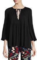 Rachel Pally Rupert 3/4-Sleeve Flutter Jersey Top