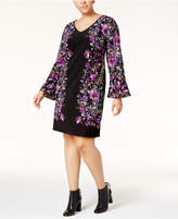 INC International Concepts Plus Size Bell-Sleeve Sheath Dress, Created for Macy's