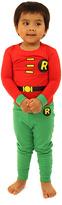Intimo Red & Green Robin Pajama Set - Infant Toddler & Boys