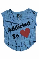 Rebel Yell Addicted to Love Muscle Tee in Sea Blue