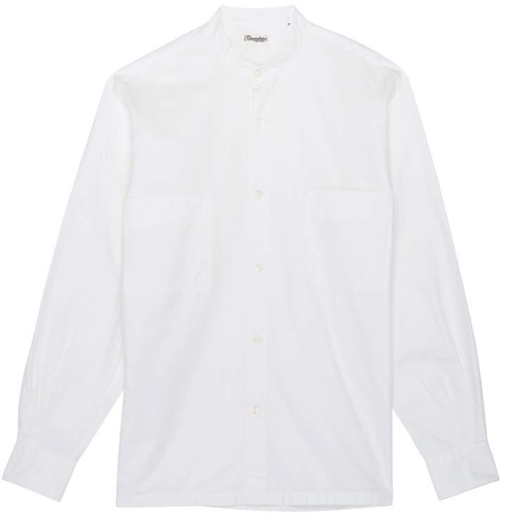 Camoshita Mandarin collar twill shirt
