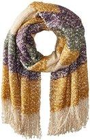 La Fiorentina Women's Oversized Soft Knit Striped Scarf