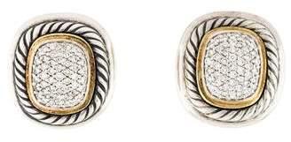 David Yurman Diamond Albion Clip-On Earrings