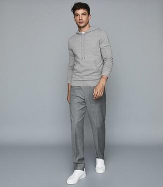 Reiss Hooper - Cashmere Hoodie in Grey