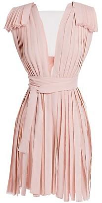 Stella McCartney Mara Patchwork Illusion Ribbon Maxi Dress