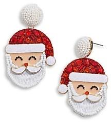 BaubleBar Santa Claus Drop Earrings in Gold Tone