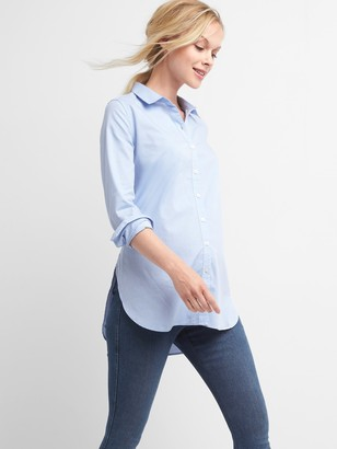 Gap Maternity Tailored Oxford Tunic Shirt