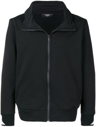 Fendi concealed hooded cardigan
