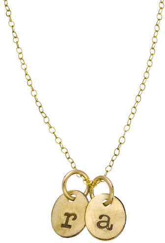 Sweet Pea Urban Sweetpea Double Oval Personalized Lowercase Initial Necklace