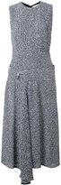 Victoria Beckham drop waist dress - women - Viscose/Linen/Flax/Acrylic/Silk - 8