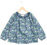 Bonpoint Girls' Ruched Floral Print top
