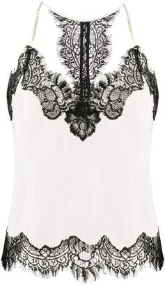 Gold Hawk lace trimmed camisole top