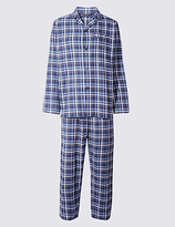 M&s Collection Big & Tall Pure Brushed Cotton Pyjamas