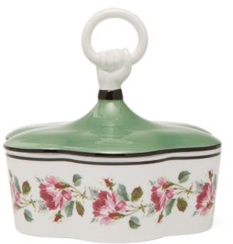 Gucci Floral Porcelain Trinket Box - Green Multi
