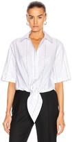Off-White Off White Popeline Baseball Knot Shirt in White | FWRD
