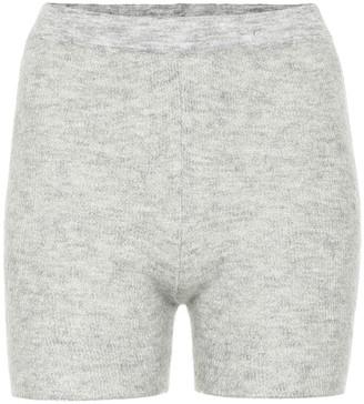 Jacquemus Le Short Arancia ribbed-knit biker shorts