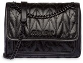 Miu Miu logo plaque quilted shoulder bag