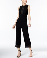 Y-yigal YYIGAL Lace-Trim Wide-Leg Jumpsuit, a Macy's Exclusive Style