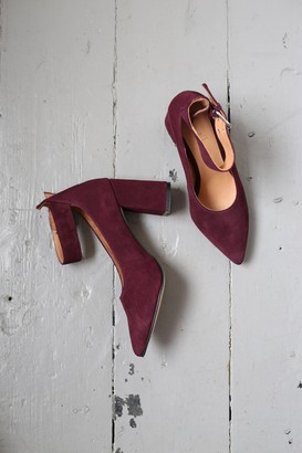 Shoe The Bear - Jane Burgundy Suede Ankle Pump - 39
