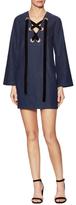 Velvet Lace-Up Mini Dress