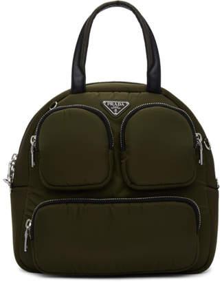 Prada Khaki Large Duffle Bag