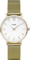 Cluse CL30010 Minuit stainless steel gold mesh watch