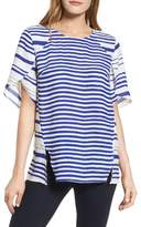 Chaus Women's Tulip Sleeve Stripe Blouse