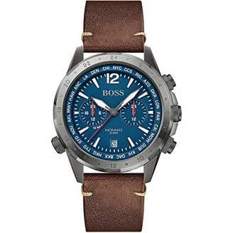 HUGO BOSS Men's Multi Dial Quartz Watch with Leather Strap 1513773
