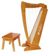 Schoenhut 15-String Harp - Cherry
