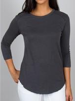 Junk Food Clothing W's 3/4 Slv Tee W/ Pigment Dye-granite-xs