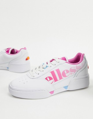 Ellesse piacentino logo leather sneakers in white