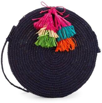 Mar y Sol Tassel Round Straw Bag