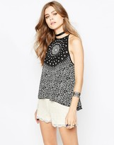 Band of Gypsies Cami Top In Mono Print