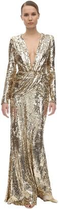 Long Sequin Embellished Dress