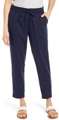 Lucky Brand Teigen Drawstring Linen Blend Pants