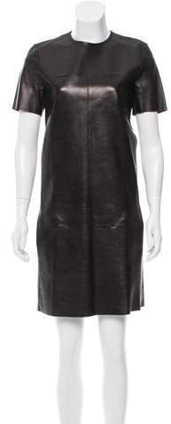 Celine Leather Shift Dress w/ Tags
