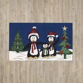 The Holiday Aisle Rectangle Navy Area Rug